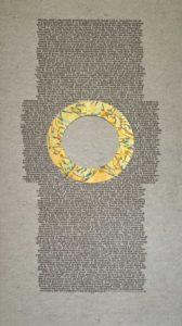 Deze kalligrafie van Arie Trum linkt naar de volledige tekst van de Karmelregel