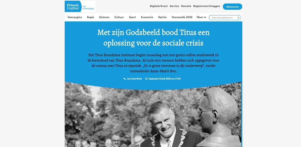 beeld van Titus Brandsma in Boxmeer