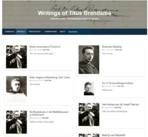 afbeelding linkt naar de website Writings of Titus Brandsma