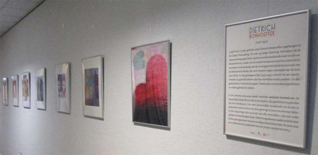 Overzicht expositie over Bonhoeffer
