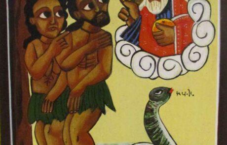 Ikoon van Adam en Eva, geschreven door Joos Streefkerk