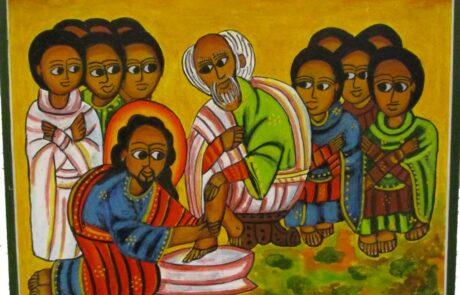 Ikoon voetwassing, geschreven door Joos Streefkerk