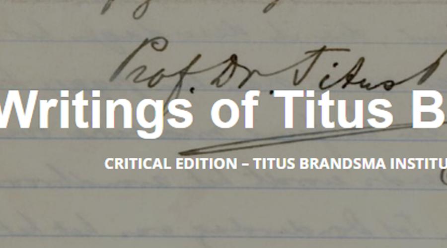 afbeelding linkt naar de website Writings of Titus Brandsma