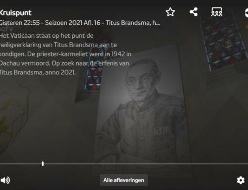 Speciale uitzending over Titus Brandsma